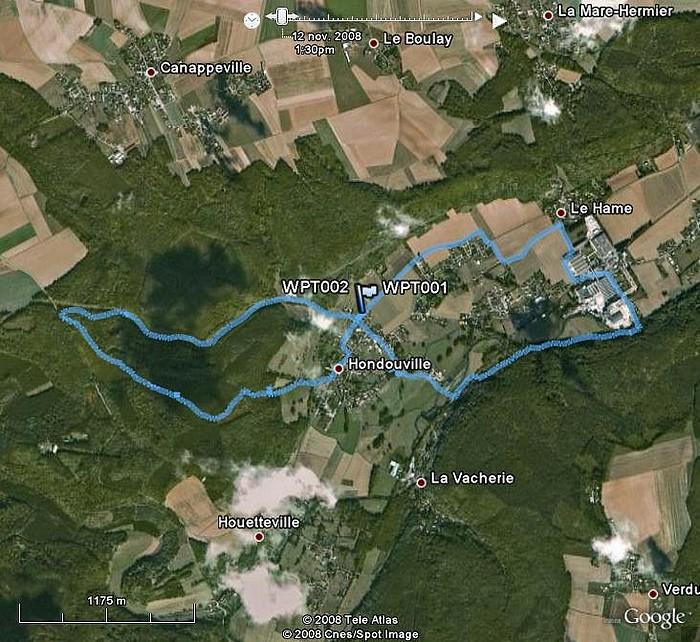 Hondouville, circuit autour du village Hondouville
