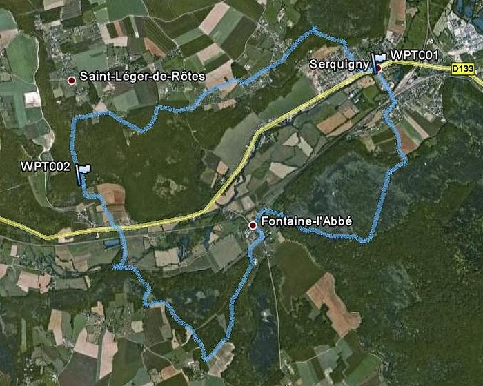 Serquigny, avec le club Iton-Rando Serquigny