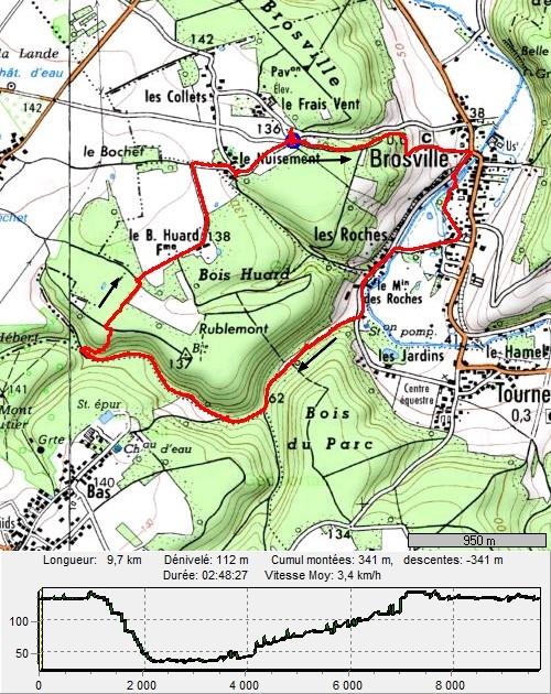 Brosville, variante de 10 kilomètres Brosville10