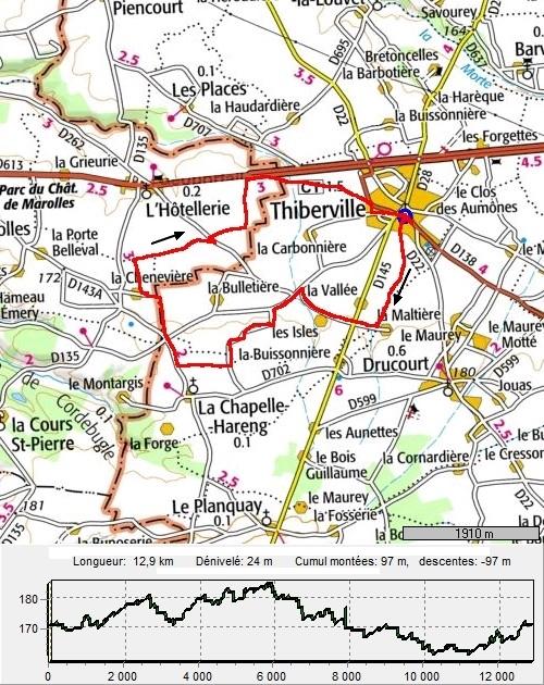 Tiberville, circuit des Houziaux TibervilleHouziaux